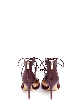 Back View - Click To Enlarge - Sam Edelman - 'Taylor' lace-up suede and leather pumps