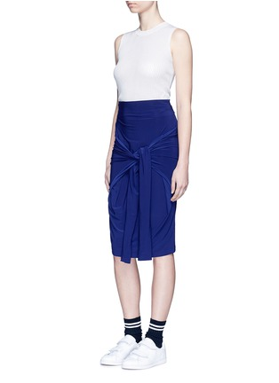 Figure View - Click To Enlarge - Norma Kamali - 'All In One Mini' convertible jersey skirt top