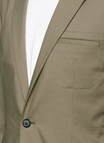 Grosgrain trim blazer