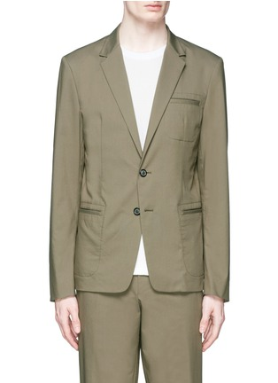 Main View - Click To Enlarge - Wooyoungmi - Grosgrain trim blazer