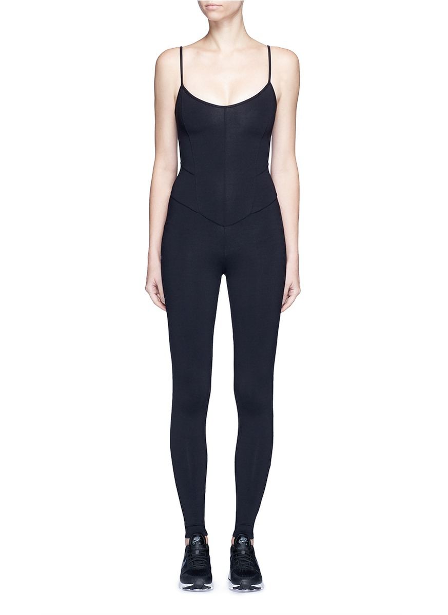 Jersey camisole corset unitard jumpsuit by Live The Process