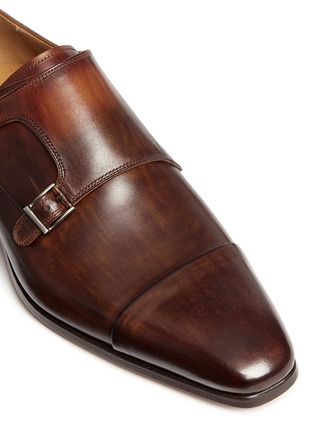 Detail View - Click To Enlarge - Magnanni - Two-tone leather monk strap shoes