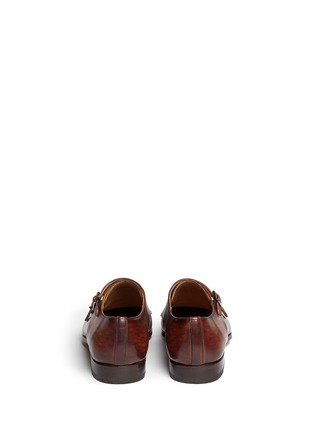 Back View - Click To Enlarge - Magnanni - Two-tone leather monk strap shoes