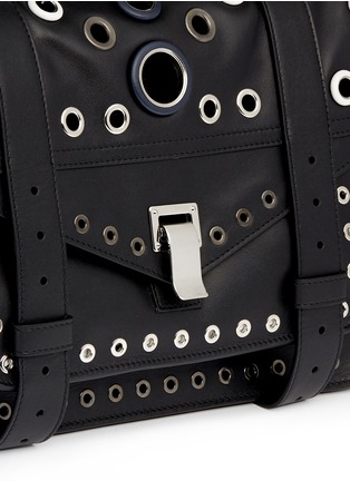 Detail View - Click To Enlarge - Proenza Schouler - 'PS1' medium variegated grommet leather satchel