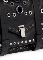 'PS1' medium variegated grommet leather satchel