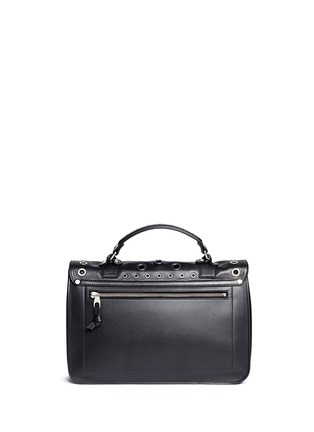 Back View - Click To Enlarge - Proenza Schouler - 'PS1' medium variegated grommet leather satchel