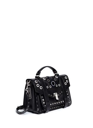 Figure View - Click To Enlarge - Proenza Schouler - 'PS1' medium variegated grommet leather satchel