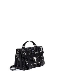 PROENZA SCHOULER'PS1' medium variegated grommet leather satchel