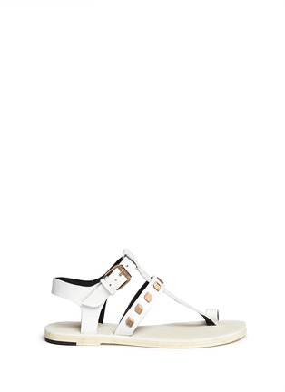 Pierre Hardy - Prism stud leather T-strap sandals