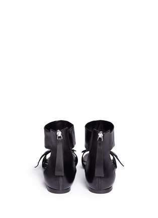 Back View - Click To Enlarge - Pierre Hardy - 'Oh Roy' eye appliqué leather sandals