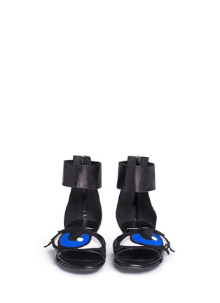 Front View - Click To Enlarge - Pierre Hardy - 'Oh Roy' eye appliqué leather sandals