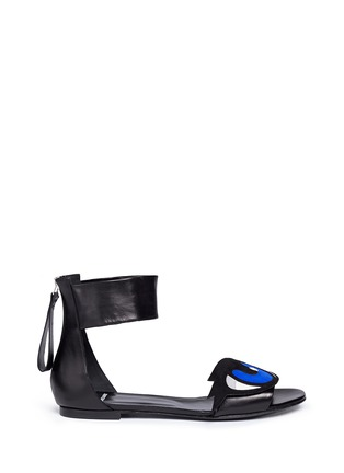 Main View - Click To Enlarge - Pierre Hardy - 'Oh Roy' eye appliqué leather sandals