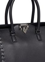 'Rockstud' medium leather zip tote
