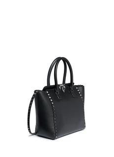 VALENTINO'Rockstud' medium leather zip tote