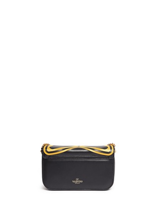 Back View - Click To Enlarge - Valentino - 'Super-H' Batman print leather crossbody chain bag