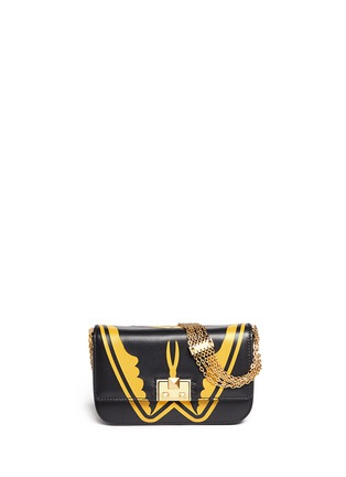 Main View - Click To Enlarge - Valentino - 'Super-H' Batman print leather crossbody chain bag