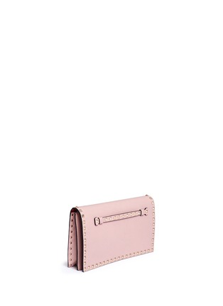 Front View - Click To Enlarge - Valentino - 'Rockstud' leather flap clutch