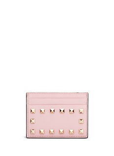 VALENTINO 'Rockstud' leather cardholder
