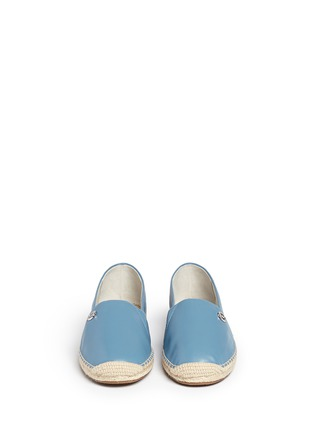 Front View - Click To Enlarge - Michael Kors - 'Kendrick' leather espadrille slip-ons