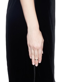 Core Jewels 'Crious' black diamond ruthenium plated 18k gold midi ring
