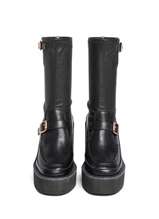 SACAILeather loafer wedge ankle boots
