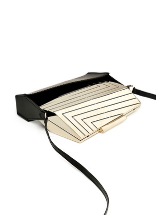 Detail View - Click To Enlarge - Eddie Borgo - 'Vic' leather case caged aluminium minaudiére