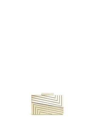 Main View - Click To Enlarge - Eddie Borgo - 'Vic' leather case caged aluminium minaudiére