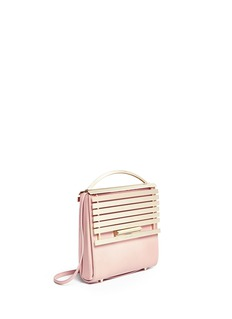 EDDIE BORGO 'Colt' aluminium bar flap leather crossbody