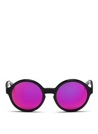Main View - Click To Enlarge - ANDERNE - 'Luftballons' acetate mirror round sunglasses