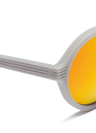 Detail View - Click To Enlarge - ANDERNE - 'Luftballons' matte acetate mirror round sunglasses