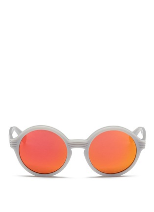 Main View - Click To Enlarge - ANDERNE - 'Luftballons' matte acetate mirror round sunglasses