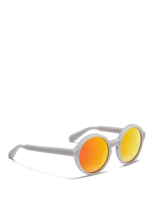 Figure View - Click To Enlarge - ANDERNE - 'Luftballons' matte acetate mirror round sunglasses