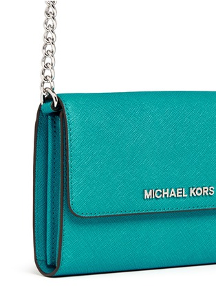 Detail View - Click To Enlarge - Michael Kors - 'Jet Set Travel' saffiano leather phone crossbody bag
