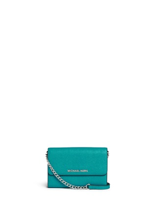 Main View - Click To Enlarge - Michael Kors - 'Jet Set Travel' saffiano leather phone crossbody bag