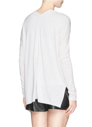 背面 - 点击放大 - Vince - Lightweight Merino wool-blend double V sweater
