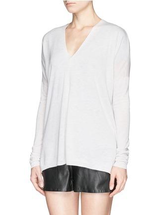 正面 -点击放大 - VINCE - Lightweight Merino wool-blend double V sweater