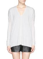 Lightweight Merino wool-blend double V sweater