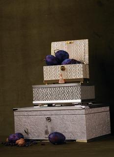 L'OBJET 镀24K金边缘木质首饰盒