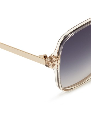 Detail View - Click To Enlarge - Victoria Beckham - 'Marine' metal temple acetate sqaure sunglasses