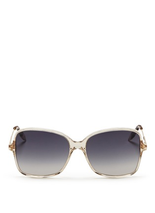 Main View - Click To Enlarge - Victoria Beckham - 'Marine' metal temple acetate sqaure sunglasses