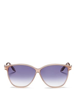 Main View - Click To Enlarge - Victoria Beckham - 'Vienna' wavy cutout temple acetate sunglasses