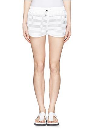 首图 - 点击放大 - MONCLER GRENOBLE - 网眼拼贴横纹短裤