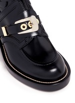 'Ceinture' metal eyelet cutout leather Derby boots