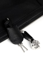 'Padlock' leather clutch