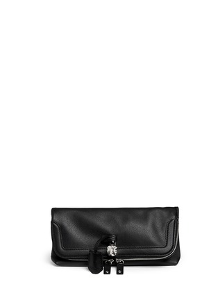 Main View - Click To Enlarge - Alexander McQueen - 'Padlock' leather clutch