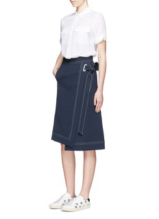 EQUIPMENT'Slim Signature' short sleeve silk shirt