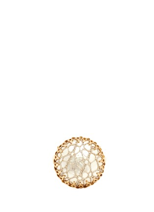Main View - Click To Enlarge - Miriam Haskell - Caged Baroque pearl filigree ring