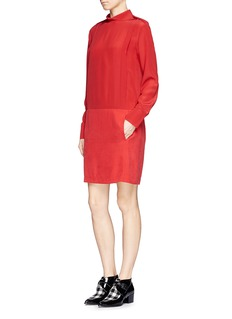 SEE BY CHLOÉ Silk combo dress