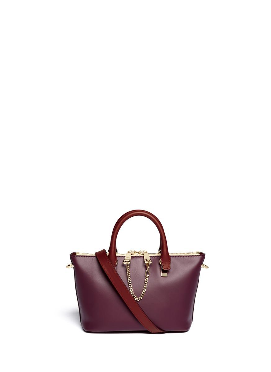 CHLO¨¦ - \u0026#39;Baylee\u0026#39; mini leather tote   Multi-colour Crossbody ...