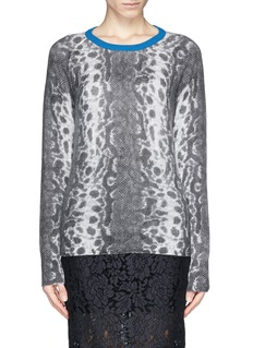 EQUIPMENT 'Sloane' cobra print cashmere sweater